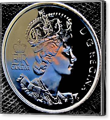 Her Majesty Elisabeth The Second  Coin Canvas Print by Danielle  Parent