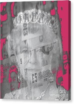 Her Majesty Queen Elisabeth Canvas Print by PainterArtist FIN
