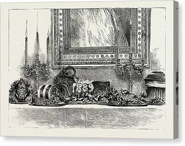 Her Majestys The Queens Sideboard At Christmas 1889 Canvas Print by Litz Collection