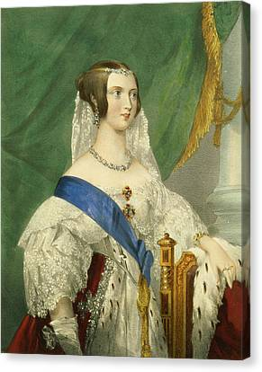 Jewels Canvas Print - Her Most Gracious Majesty, Queen by George Howard