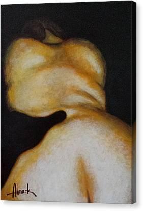 Her Night Dreams Iv Canvas Print by Alexander Almark