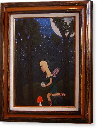 Her Night Light  Canvas Print by Yvonne  Kroupa