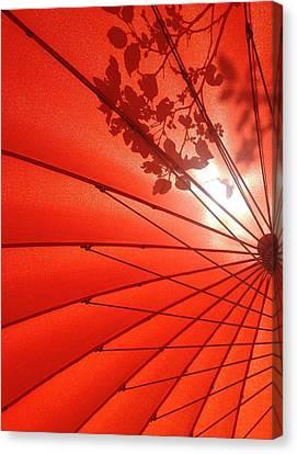 Her Red Parasol Canvas Print by Brenda Pressnall