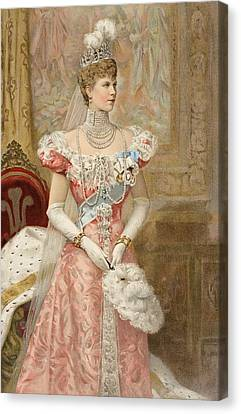 Jewels Canvas Print - Her Royal Highness The Princess by Samuel Begg