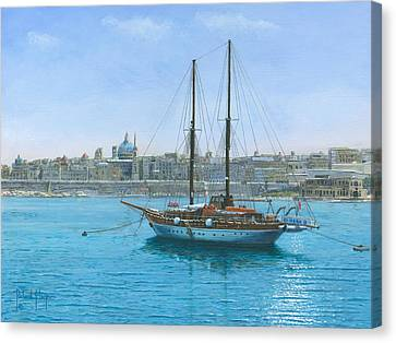 Hera Canvas Print - Hera 2 Valletta Malta by Richard Harpum