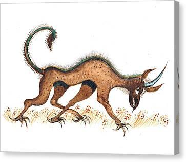 Heraldic Fantasy Creature Canvas Print by Ion vincent DAnu