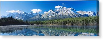 Herbert Lake Banff National Park Canada Canvas Print by Panoramic Images