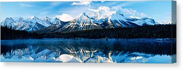 Herbert Lake, Banff National Park Canvas Print by Panoramic Images