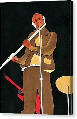 Herbie Mann Canvas Print by Fred Gardner