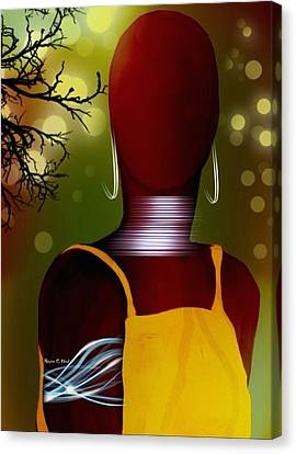 Hercloseup Canvas Print by Romaine Head