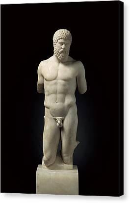 Hercules. 5th C. Bc. Roman Copy. Greek Canvas Print by Everett