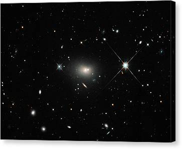 Hercules A Galaxy Canvas Print by Nasa, Esa, S. Baum And C. O'dea (rit), And The Hubble Heritage Team (stsci/aura)