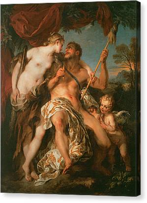 Hercules And Omphale Canvas Print by Francois Le Moyne