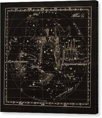 Hercules Constellations, 1829 Canvas Print by Science Photo Library