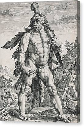 Built Canvas Print - Hercules by Hendrik Goltzius