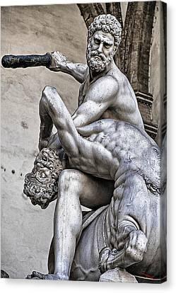 Hercules Killing The Centaur Canvas Print by SM Shahrokni