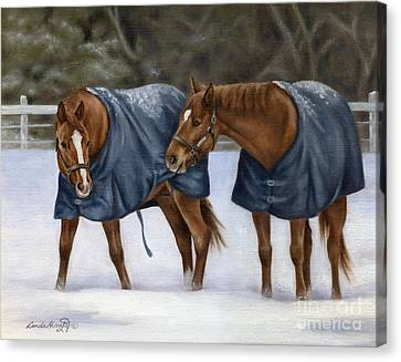 Here Let Me Help You With That Canvas Print by Linda Shantz