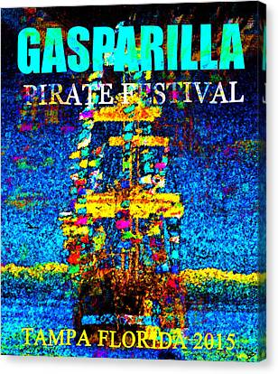 Here Comes Gasparilla Canvas Print by David Lee Thompson