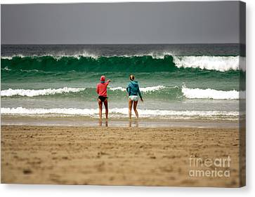 Canvas Print featuring the photograph Here Comes The Big One by Terri Waters