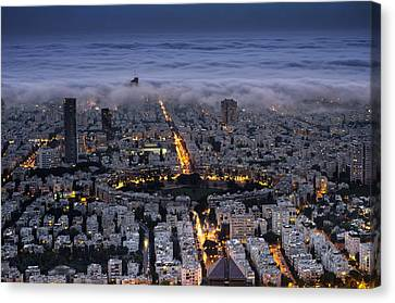 Here Comes The Fog  Canvas Print by Ron Shoshani