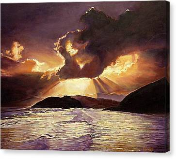 Here Comes The Storm, 2008 Oil On Canvas Canvas Print