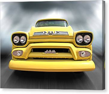Here Comes The Sun - Gmc 100 Pickup 1958 Canvas Print by Gill Billington