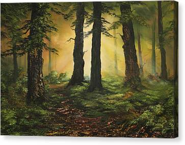 Cannock Chase Canvas Print - Here Comes The Sun by Jean Walker