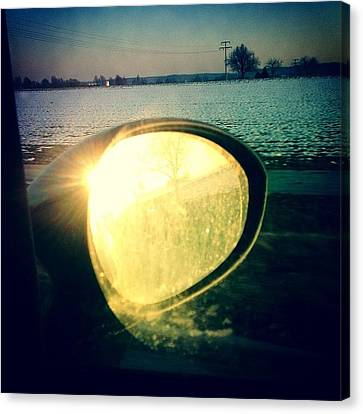 Light Canvas Print - Here Comes The Sun by Matthias Hauser