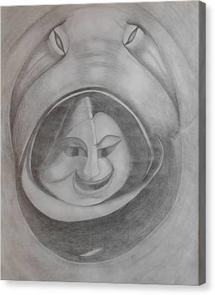 Here I Am Canvas Print by Debra Barrie