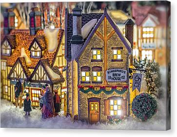 Here We Come A Caroling Canvas Print by Caitlyn  Grasso
