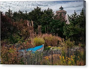 Rowboat Canvas Print - Hereford Lighthouse by Joan Carroll
