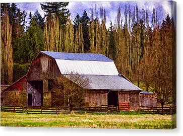 Old Barns Canvas Print - Heritage Remembered by Jordan Blackstone