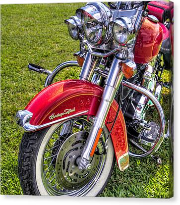 Heritage Softail Canvas Print by Tim Stanley
