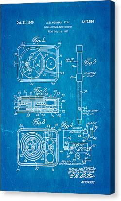 Herman And Marx Cardiac Monitor Patent Art 1969 Blueprint Canvas Print by Ian Monk