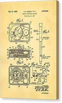 Herman And Marx Cardiac Monitor Patent Art 1969 Canvas Print by Ian Monk