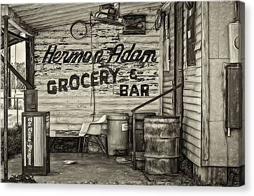 Grocery Store Canvas Print - Herman Had It All - Sepia by Steve Harrington