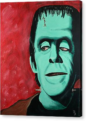 Herman Munster - The Munsters Canvas Print by Bob Baker