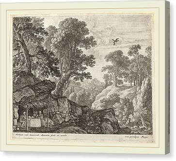 Herman Van Swanevelt, Saint Paul And Saint Anthony Fed Canvas Print by Litz Collection