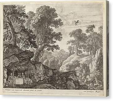 Herman Van Swanevelt, Saint Paul And Saint Anthony Fed Canvas Print by Quint Lox