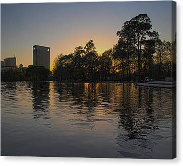 Hermann Park Sunset One Canvas Print by Joshua House