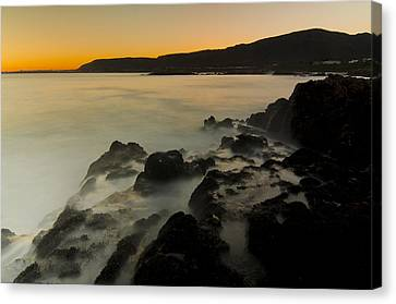 Hermanus Sunset Canvas Print by Aaron Bedell