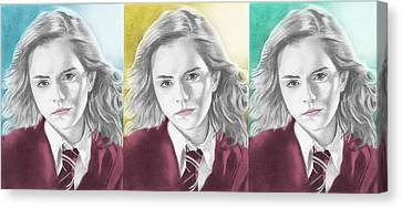 Hermione Granger - 3up One Print Canvas Print by Alexander Gilbert