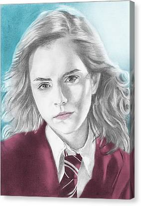 Hermione Granger - Individual Blue Canvas Print by Alexander Gilbert
