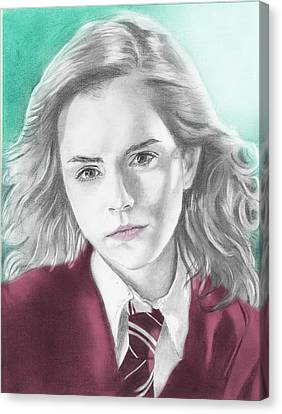 Hermione Granger - Individual Green Canvas Print by Alexander Gilbert