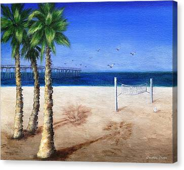 Hermosa Beach Pier Canvas Print by Jamie Frier