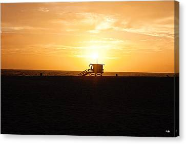 Hermosa Beach Sunset Canvas Print by Scott Pellegrin