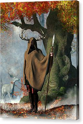 Herne The Hunter Canvas Print by Daniel Eskridge