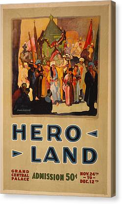 Hero Land Poster Canvas Print