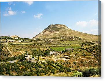 Herodion Man-made Hill Canvas Print by Photostock-israel