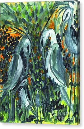 Herons Canvas Print
